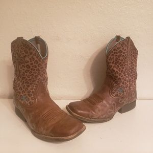 Women's Ariat Leppard Cowbow Western Boots Size 5